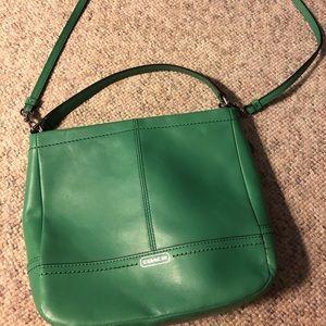COACH Green/teal crossbody/over the shoulder bag